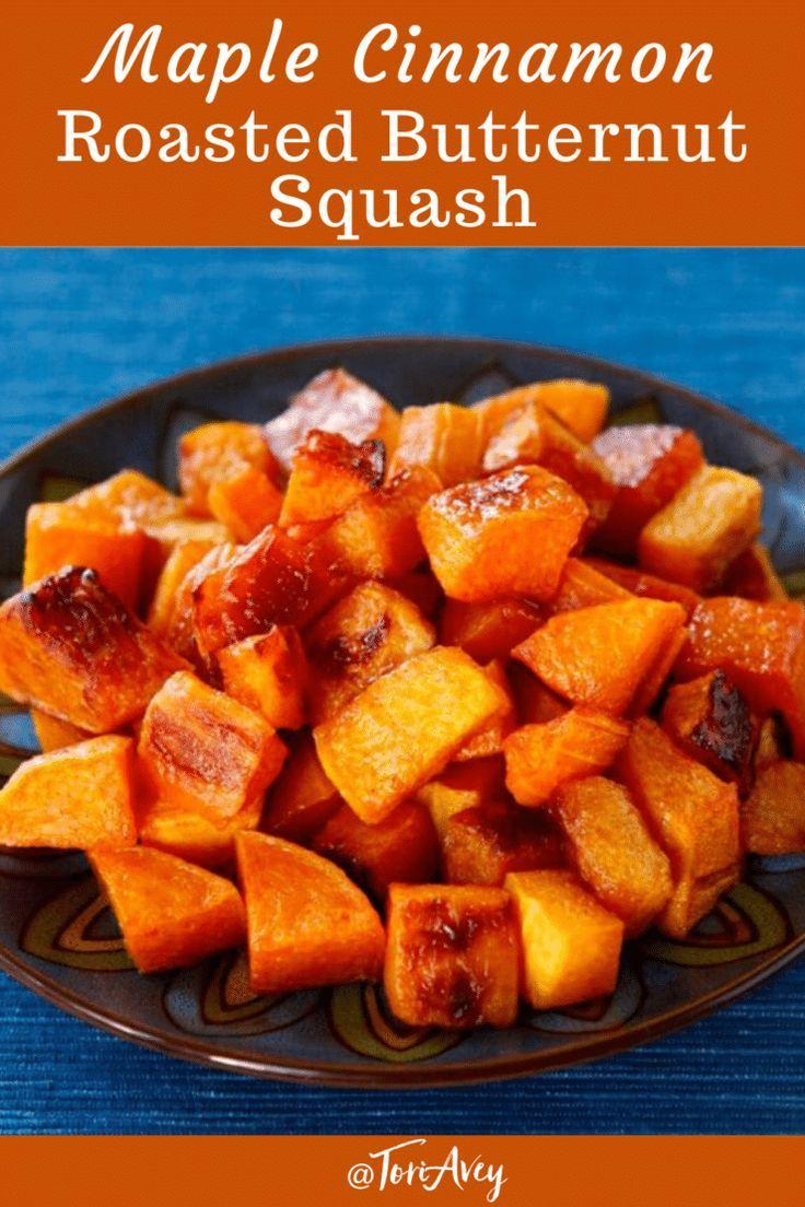 Maple Cinnamon Roasted Butternut Squash Vegan Recipe In 2020 Roasted Butternut Squash Pumpkin Recipes Healthy Roasted Butternut
