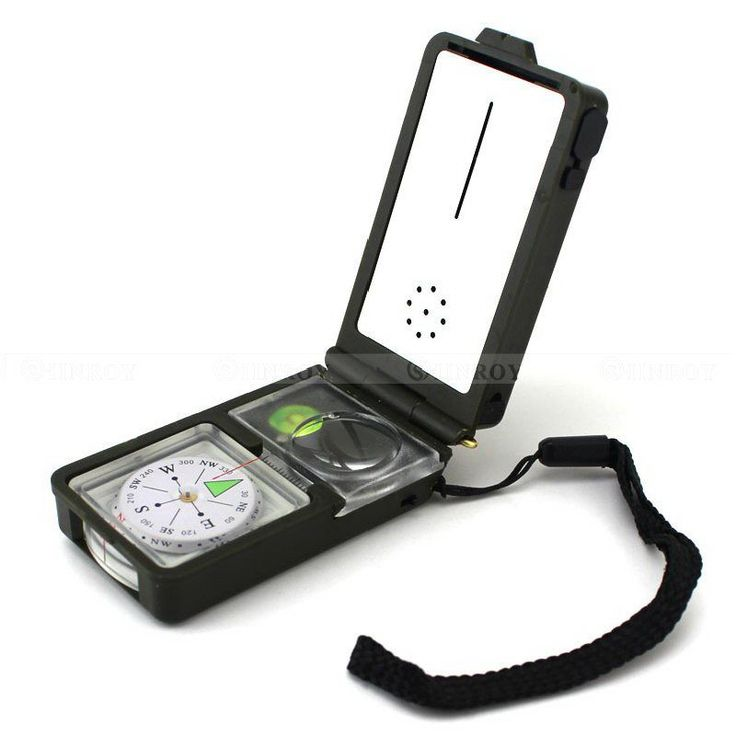 10 in 1 Multifunction Compass Camping Hiking Survival Tool Kits Compass Fire Starter Ruler Whistle LED Light