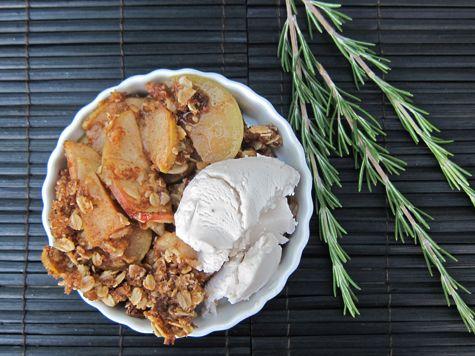 Honey Rosemary Apple CrispRosemary Apples, Apple Crisps, Apples Seasons, Apples Crisps