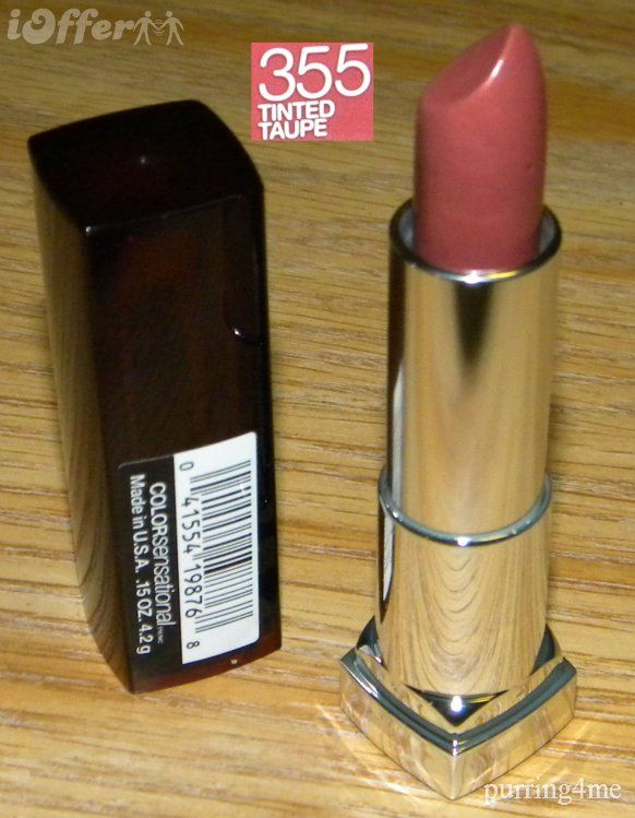 Maybelline Tinted Taupe: my favorite 'natural look' lipstick—it's the color of my lips. TR