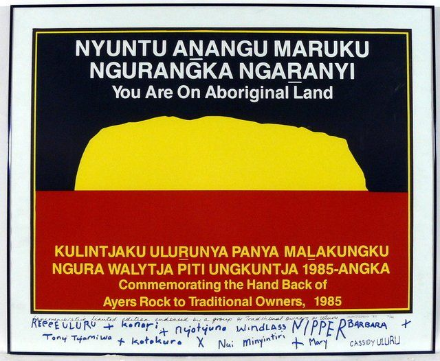 .@RuthHRLC Commemorating 30 years since Uluru was rightfully handed back to the Pitjantjatjara and Yankunytjatjara people