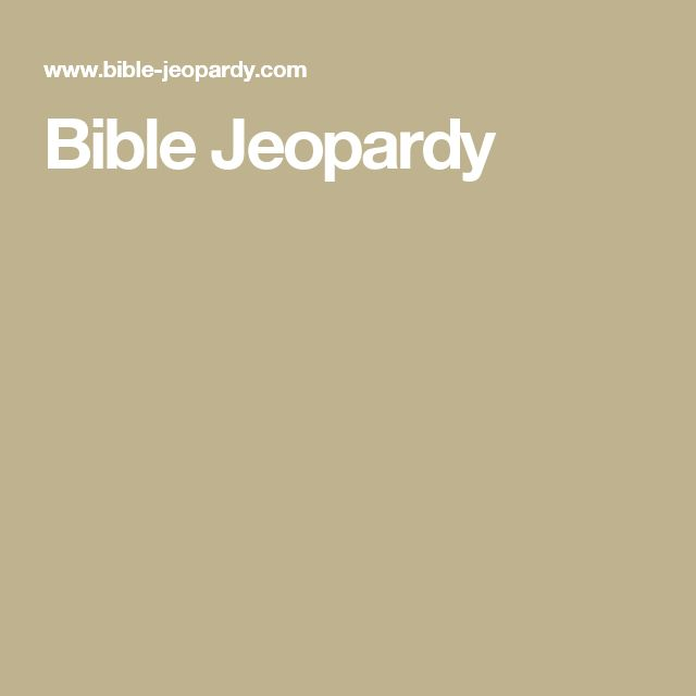 174 best Sunday School Games images on Pinterest Sunday school - blank jeopardy template