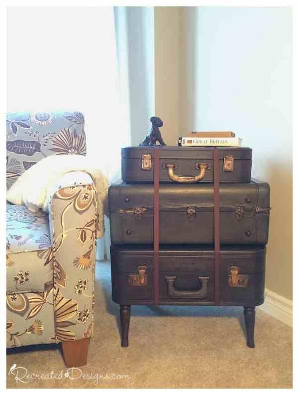 Vintage Suitcase Side Table Huis Ideeen Koffers Ideeen