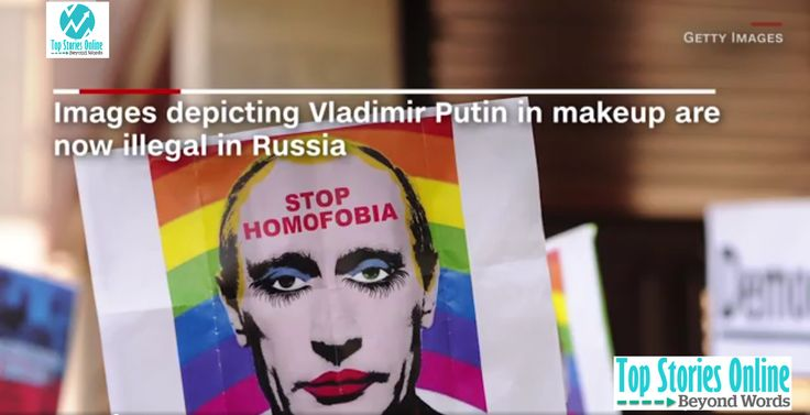 Russia bans images of Putin linked to gay clown meme It is now illegal in Russia to distribute any images that depict President Vladimir Putin wearing