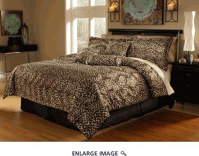 7Pcs Queen Leopard Animal Kingdom Bedding Comforter Set
