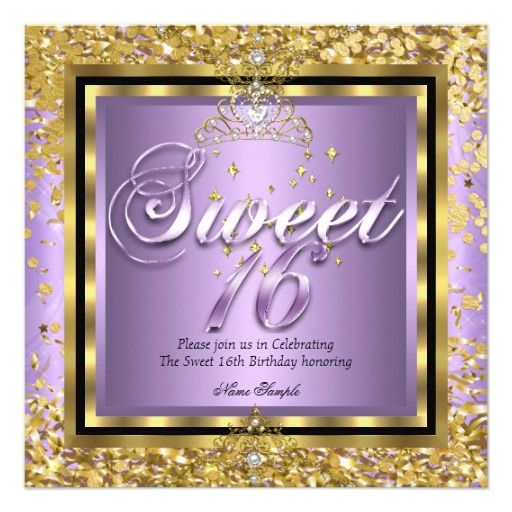 410 best images about Purple 16th Birthday Party Invitations on – Purple Party Invitations