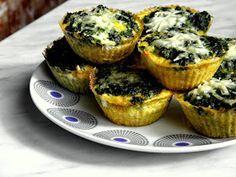 Cizrnové muffiny se špenátem