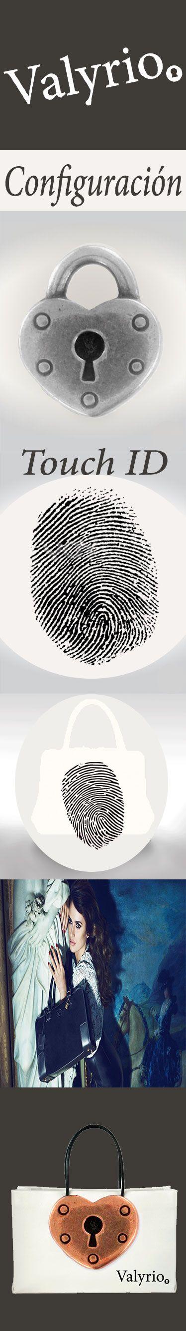 Bolsos Valyrio cuenta con la configuración Touch ID (apertura a través de la huella de identidad).