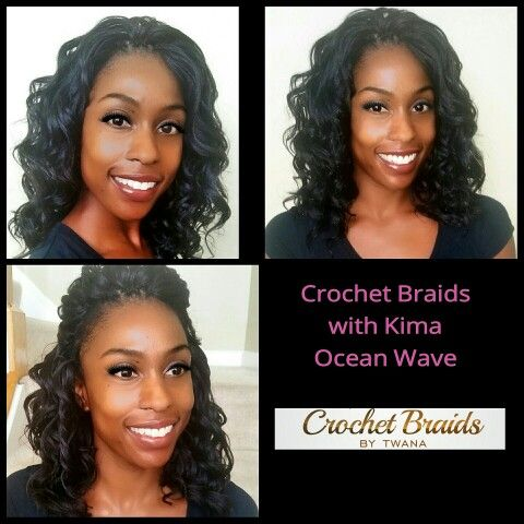 Crochet Braids with Harlem 125 Kima Ocean Wave. #crochetbraids #braids ...