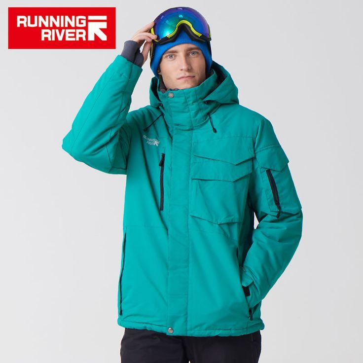Promo FLUSS Marke Wasserdichte Jacke Für Männer Skianzug Set Männer Snowboard Jacke Männliche Ski Kleidung # A3268 #FLUSS #Marke #Wasserdichte #Jacke #Für #Männer #Skianzug #Snowboard #Männliche #Kleidung #A3268