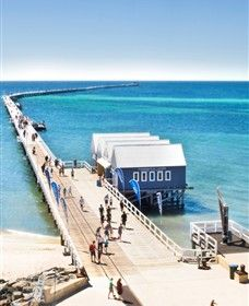 Busselton - Western Australia. 1.8km jetty, for walking, snorkeling etc. 2hours 40mins south of Perth. Underwarter Observatory. Diving tours. 30km coastline of immaculate beaches, fishing, water skiing, snorkeling, scuba diving, kayaing, sailing. Waterfront resorts. Shopping.