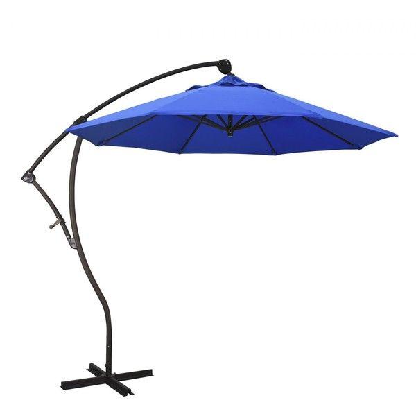 California Umbrella 9 Ft Octagonal Aluminum 2-Way Tilt Cantilever... (2.280 BRL) ❤ liked on Polyvore featuring home, outdoors, patio umbrellas, outdoor cantilever umbrella, blue patio umbrella, cantilever patio umbrellas, canvas patio umbrella and aluminum patio umbrella