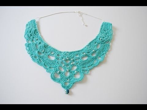 How to Crochet a Chandelier Necklace: Part 1 - YouTube