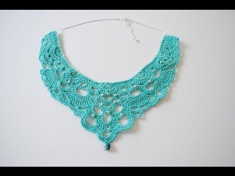 Crochet necklace or collar.