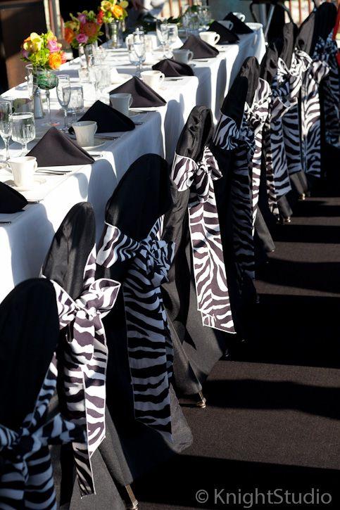 zebra wedding decor! Yes, I will probably have a black and white wedding.