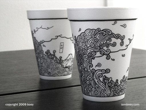Coffee Cup Drawings by Boy Obsolete