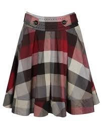 fuller plaid skirt with border
