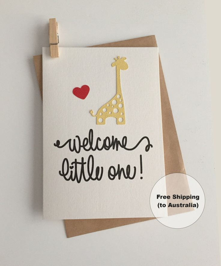 Welcome Little One Card – Congratulations Baby Card – Giraffe Baby Card – New Baby Card – Baby Giraffe Card – Christening Card by SweetCCDesign on Etsy https://www.etsy.com/au/listing/499717054/welcome-little-one-card-congratulations