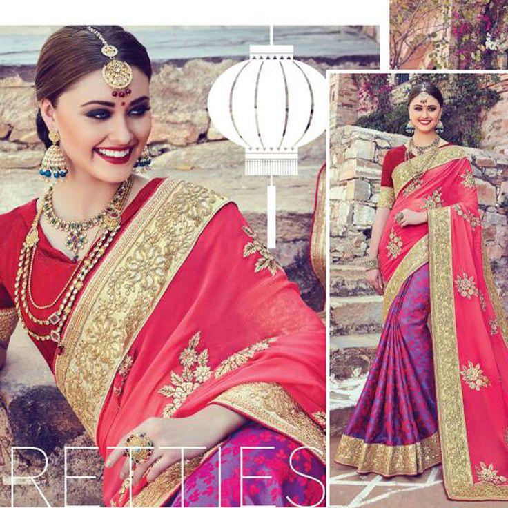 Saree Suit Indian Ethnic Designer Wedding Bridal Party Wear Bollywood Sari Dress #Shoppingover #SariSaree