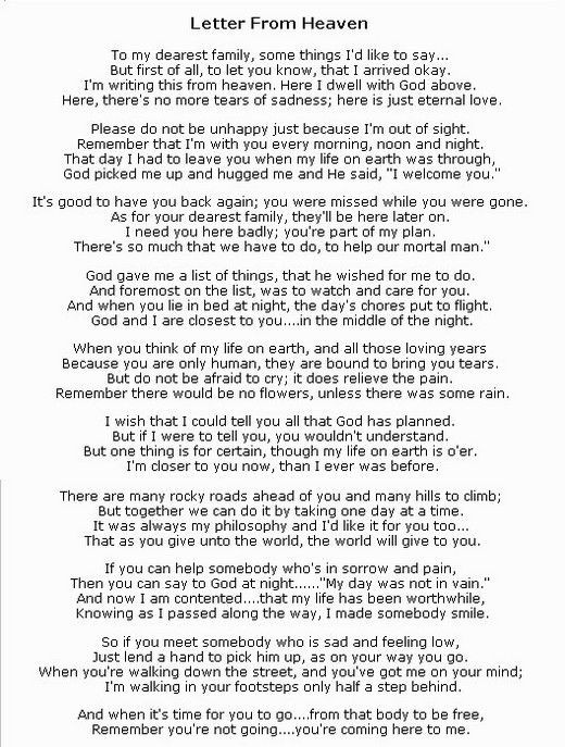 The 25+ best Letter from heaven ideas on Pinterest Mom in heaven - christmas letter format