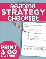Guided Reading Strategy Checklist {printable} | KindergartenWorks