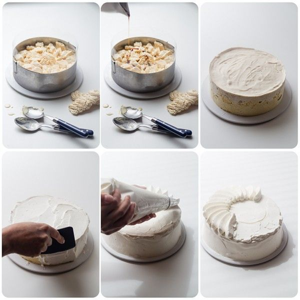 Vanilla, Nougat & Caramel Iced Vacherin with milk meringue