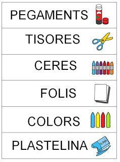 Cartells per classificar el material