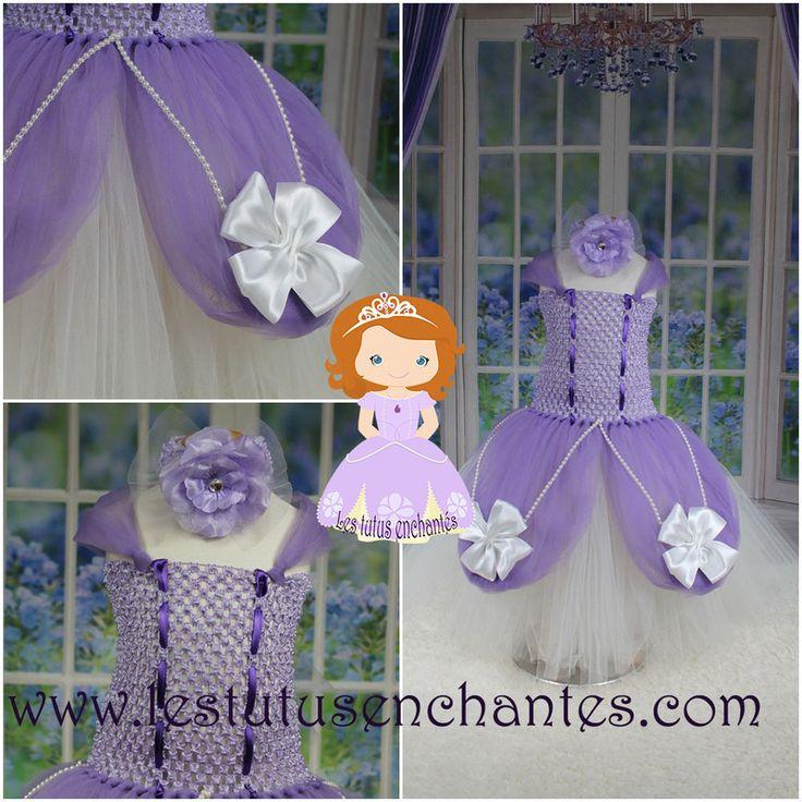 robe tutu princesse Sofia 2 / 3 ans - vêtements enfants - les tutus enchantés.com - Fait Maison