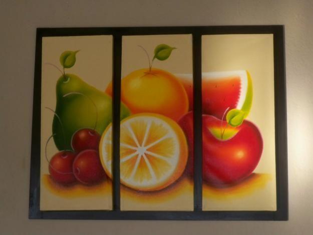 Cuadros para la cocina con frutas pinturas pinterest - Cuadros para la pared ...