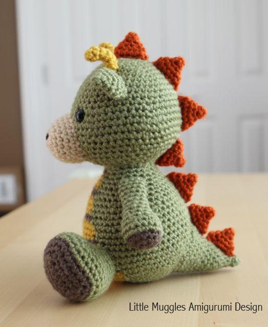 Patrón amigurumi Crochet Spike el dragón por littlemuggles en Etsy