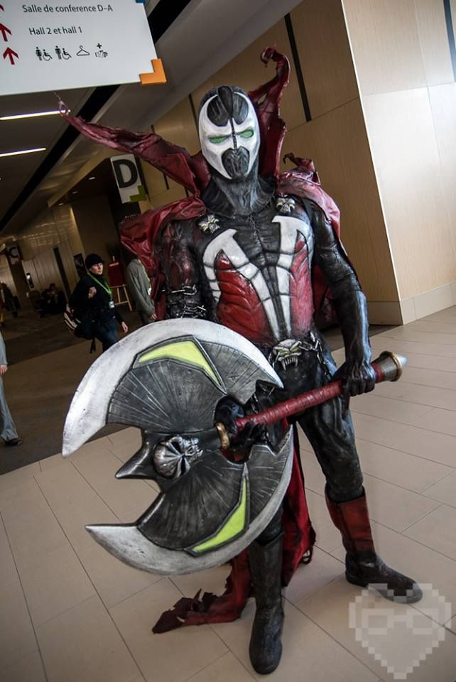Spawn. Check out my FAN JUNK Cosplay store for cool fan gear: http://astore.amazon.com/cosplay_diary-20 Curated by NYC Metro Fandom. NYC Tri-State Fan Events: http://yonkersfun.com/category/fandom/