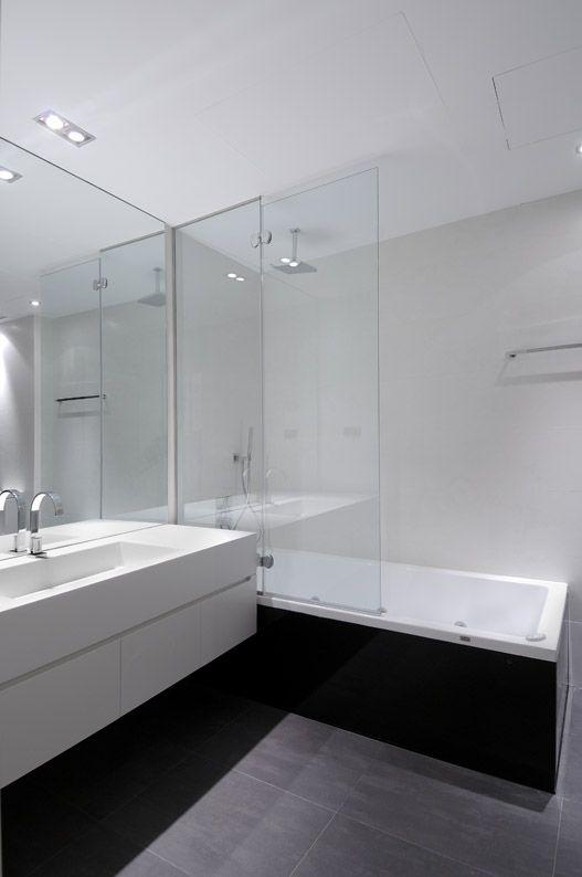 Interior Design, Interior Decorating Ideas White Interior Bathroom As Dark Furniture: Interior decorating ideas: Extraordinary Urban Remodel...