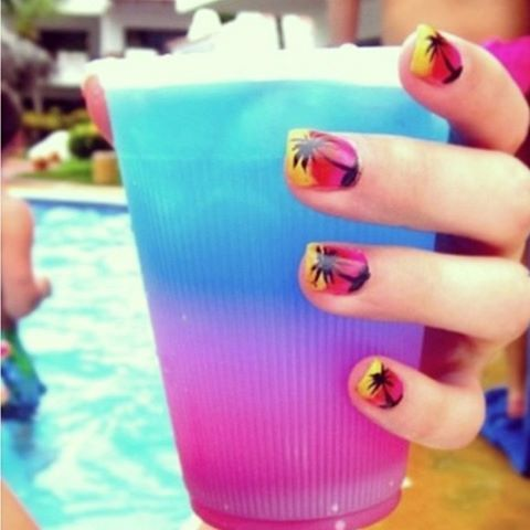 Summer nails  | See more nail designs at http://www.nailsss.com/french-nails/2/
