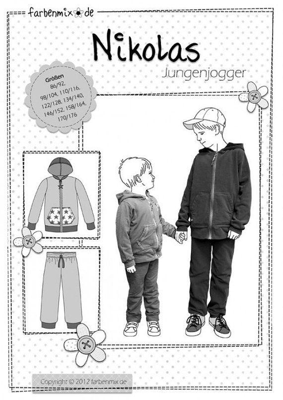 Pattern of NIKOLAS jogging suit kids | Hosen für Jungs | Pattern ...