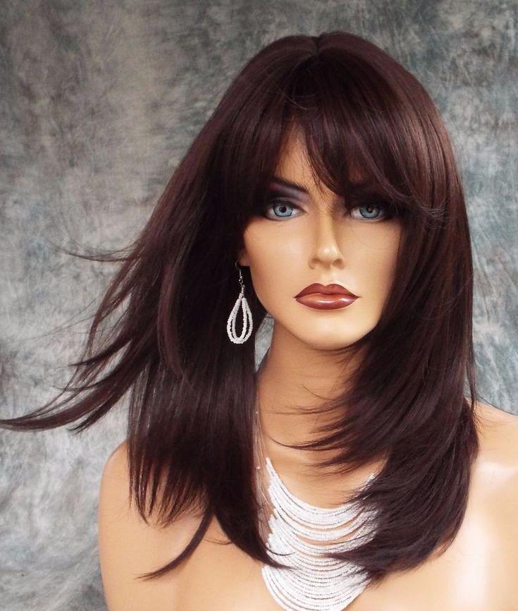 Details about large cap long wig heat safe skin top color