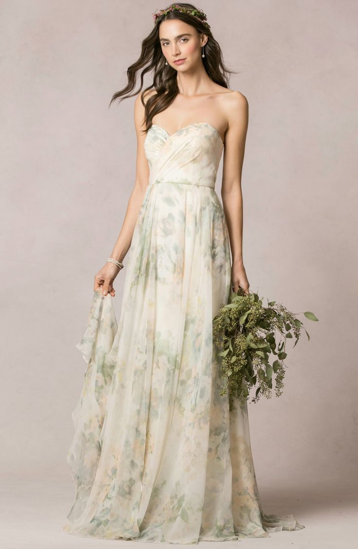 24 best floral bridesmaid gowns images on pinterest tank dress sophia gown in vintage floral chiffon by jenny yoo photo by jjignotzphoto ombrellifo Gallery