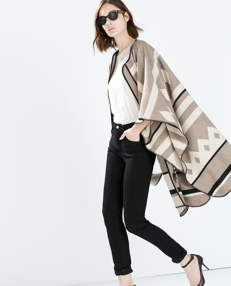 PONCHO COAT from Zara