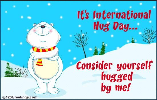 DECEMBER 4th is national hug day :D DANG IT.... MOST OF MY FRIENDS GO TO A DIFFERENT SCHOOL. AND MY BFF AINT HERE TODAY...... ILL JUST HUG MY SELF PEASANTS!!! *hugs you all* @Brenna Jarrett  see what happens when your not here xD