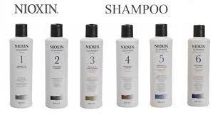 Nioxin shampoo, conditioner and leave-in