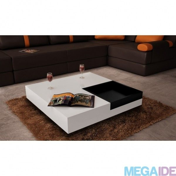 Shop Aira Black Square Coffee Table With Modern White Tray: 21 Best Sofabord Images On Pinterest