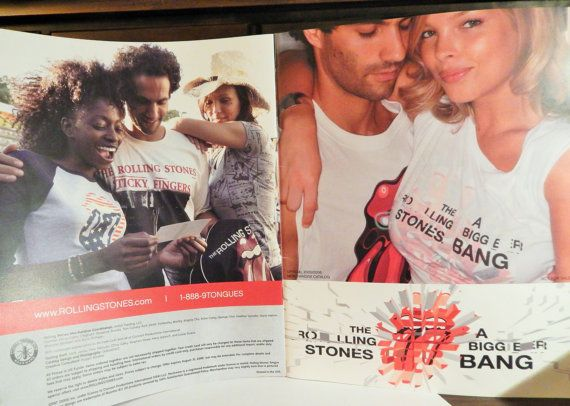 Rolling Stone A Bigger Bang Merchandise Souvenir Catalog 2005-6 oversized format; Nice Stones collectible item.