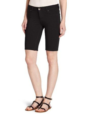 Southpole Juniors Basic Super Stretch Cotton Bermuda Short, Black, Medium Southpole. $13.74