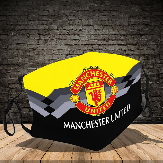 Manchester United Face Mask Reusable Washable Elastic Ear Loop Anti Dust Adult Face Mask In 2020 Face Mask The Unit Manchester United
