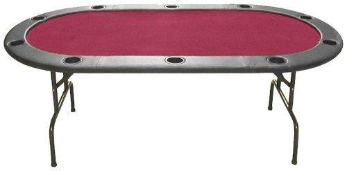 Trademark Poker Full Size Texas Hold'em 83 x 44-Inch Poker Table (Burgundy Felt) by Trademark Global. $299.99. Full Size Texas Hold'em Burgundy Felt Poker Table 83 x 44