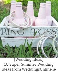 Wedding Game idea - we're going to have cornhole and crouquet, too, so this would be cute and easy!