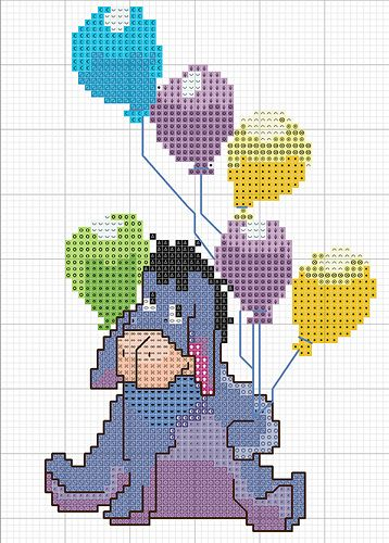 Eeyore cross stitch - link is broken but the pic might be enough to go on.