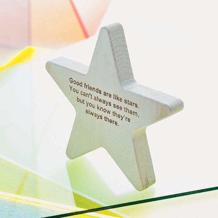 Personalised Wooden Star Keepsake from notonthehighstreet.com