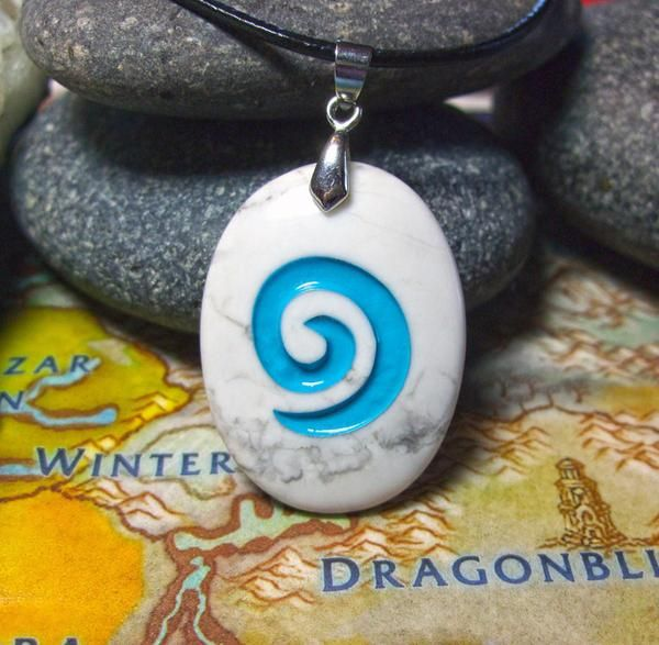 World of Warcraft inspired Hearthstone engraved pendant with chain or – Cast a Stone