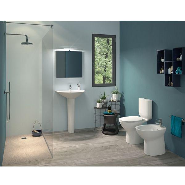 Rak Morning Basin With Full Pedestal 500mm W 1 Tap Hole Bathroom Redesign Bathroom Accessories Sets Guest Bathroom Small