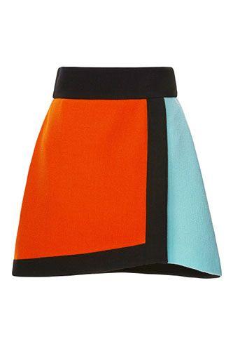 Fausto Puglisi Color-Blocked Wool Crepe Wrap Skirt, $720, available at Moda Operandi.